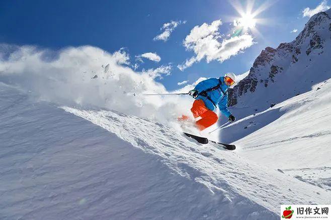 滑雪 —— 叙事小学生优秀日记周记作文500字